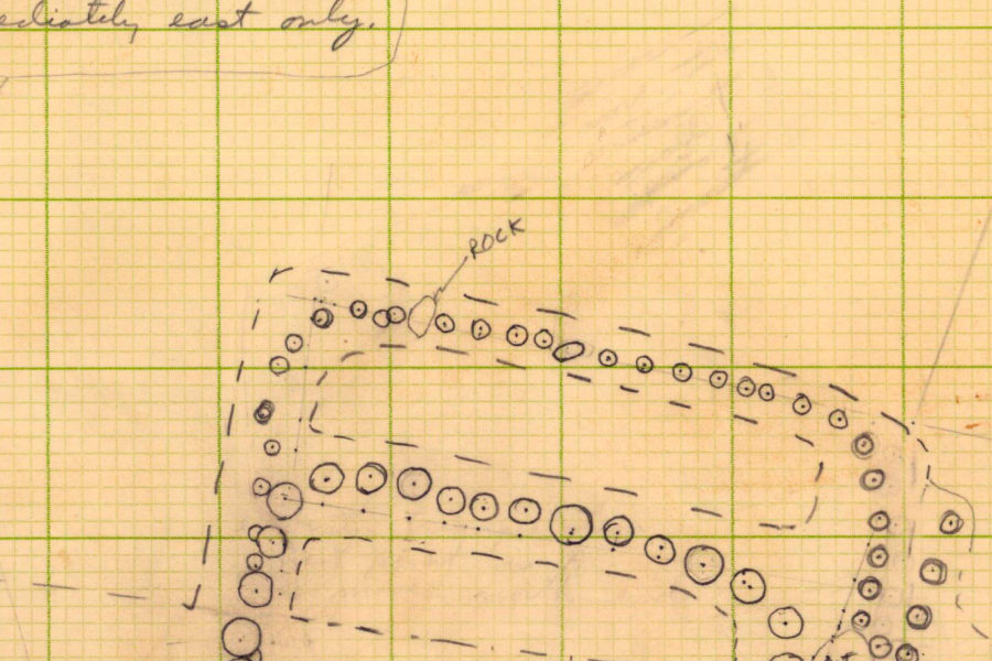 Field map of Aztalan palisade and gate excavation