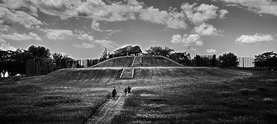 View of the Southwest Platform Mound at Aztalan
