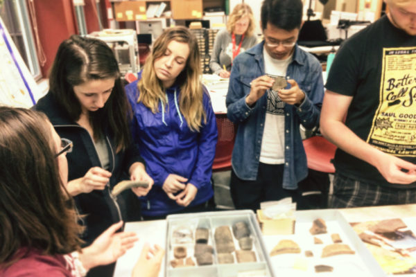 Students tour the Archaeology lab