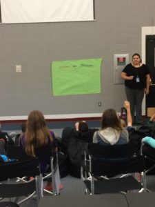 Presenting to school children